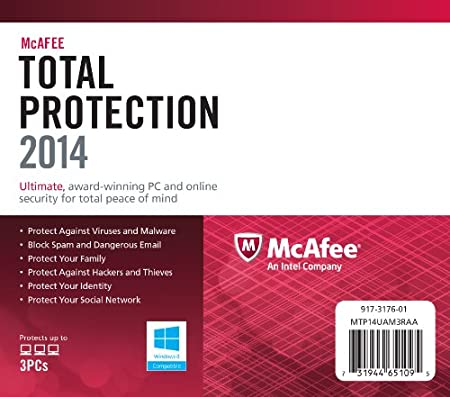McAfee Total Protection 2014 - 3 User - 1 Year (PC)
