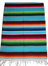 Mexican Serape Saltillo Blanket (Medi…