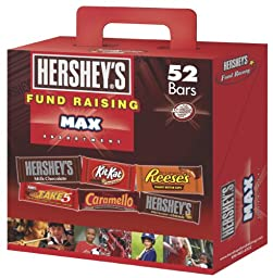 Hershey\'s Assortment, Fund Raising Max (Hershey\'s, Reese\'s, Kit Kat, Take 5 & Caramello), 52 Count