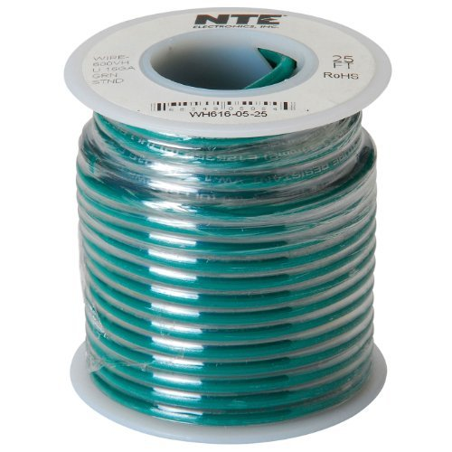 Nte Stranded 16 Awg Hook-Up Wire Green 25 Ft.