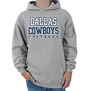 Dallas Cowboys Men's Practice Fleece Hood Grey Large