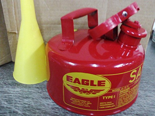 Eagle Safety Gas Can 2 Gallon Osha & Nfpa Approved. New (Eagle 2 Gallon Gas Can compare prices)