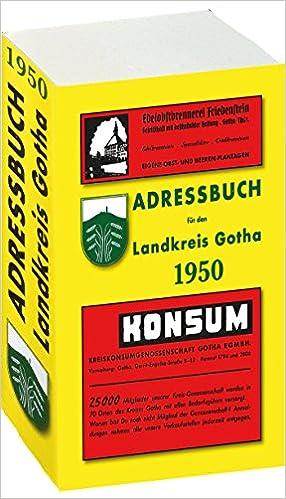 adressbuch einwohnerbuch landkreis gotha 1950 in th ringen amazon. Black Bedroom Furniture Sets. Home Design Ideas