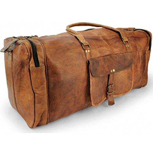A.P. Donovan - Grande borsa da viaggio senza ruote per lo sport, tennis, calcio - pelle Uomini Deposito Weekender con abbondanza di spazio
