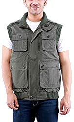 Time Option Men's Cotton Jacket (5011_Olive_40)