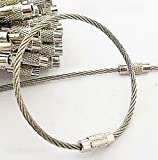 Wire Rope Cord Small And Strong Stainless Steel Hanging Cord For Keys And Accessories Pack Of 2