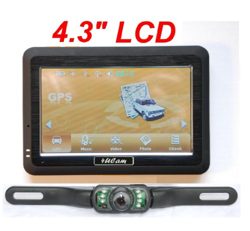 black friday 4ucam 4 3 inch lcd touch screen gps wireless backup license camera w bluetooth. Black Bedroom Furniture Sets. Home Design Ideas