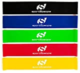 Best Resistance Bands Loop Set ● Resistance Bands For Legs ● Exercise Bands For Legs ● Physical Therapy Bands ● Great Equipment For Your CrossFit Workout ● Eco-Friendly 5 In 1 Strength Bands w/Carry Bag Makes the Perfect Travel Buddy for Men & Women