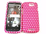Designer Retro Shabby Chic Vintage Pink Dots Htc One S Case Full Cover Front and Back