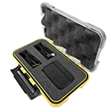 CASEMATIX Water-Resistant Travel Hard Flir Case with Customizable Foam Fits Flir ONE Thermal Imager for IOS or Android , Adapters , Cables , USB or Lightning Extensions and More
