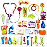 Conjunto de juguetes de doctor de simulacion - SODIAL(R)Conjunto de juguetes de doctor incluido estetoscopio caja de medicina y inyeccion de simulacion