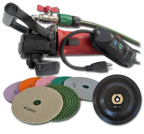 SECCO WVPOLSET 4-Inch Variable Speed Wet Polisher Kit