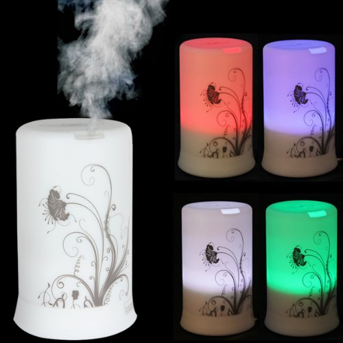 Lowest Price! OriGlam® 100ML 4 LED Colors & 4 Timing Modes Ultrasonic Wave Vibration Diffuser a...