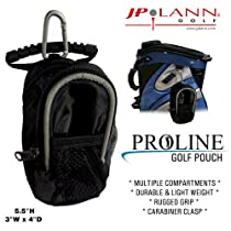 Golf Storage Pouch w/ Carabiner by JP Lann (Attaches Easily to Bags, Belts and More!)