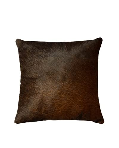 Natural Brand Torino Cowhide Pillow, Chocolate