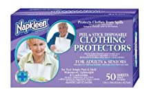 Big Sale Napkleen Disposable Clothing Protectors, Peel and Stick, 50-Count (Pack of 12)