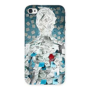 Impressive Office Paper Back Case Cover for iPhone 4 4s