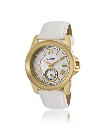 a_line Women's 80022-YG-02-WH Amare White Leather Watch
