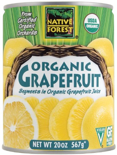 Native Forest Organic Grapefruit Segments, 20-Ounce Cans (Pack of 6) by Grapefruit