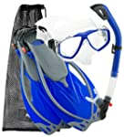 Prime Scuba Mask Fin Snorkel Set with...