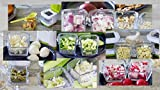 KochWunder Mini Knoblauchpresse, Knoblauchschneider, Knoblauchwürfelschneider mit Edelstahl-Schneidklingen -