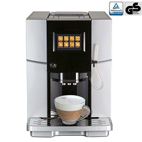 Viesta One Touch 500 Kaffeevollautomat - leistungsstarker Kaffeeautomat (2,0 Liter, 19 bar, 1500 Watt, konisches Keramik-Mahlwerk, LCD Touchscreen-Bedienoberfläche) in Silber - Modell 2016 thumbnail