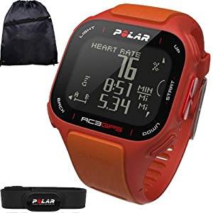 Buy Polar 90047386KT RC3 GPS Heart Rate Monitor Watch with Cinch Bag- Orange by Polar