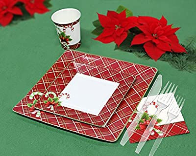 Christmas disposable dinnerware and holiday party bundle