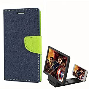 Aart Fancy Diary Card Wallet Flip Case Back Cover For Samsung Z1 - (Red) + 3D HD Movie Video Amplifier with Foldable Holder Stand for all moblie phones by Aart Store.