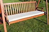 Garden Furniture Cushion- 3 Seater Swing Seat or Large garden Bench Cushion in Light Beige