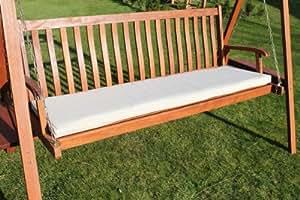 Coussin pour mobilier de jardin - Coussin pour balançoire ou banc de jardin 3places, coloris beige clair