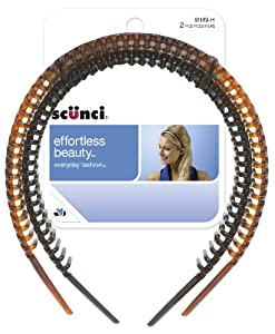 Scunci Effortless Beatuy Headbands, 1 Inch, 2-Count