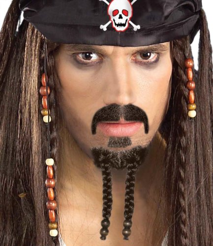 Forum Novelties Men's Pirate Beard and Moustache Costume Set