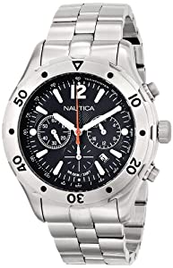 Nautica Men's A23608G NST 401 Stainless Steel Casual Watch