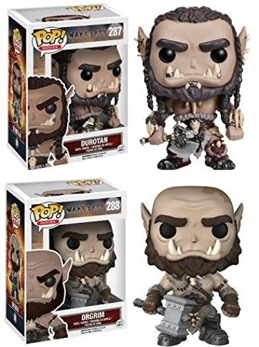 Funko POP! Warcraft: Durotan & Orgrim - Stylized Movie Vinyl Figure Set NEW