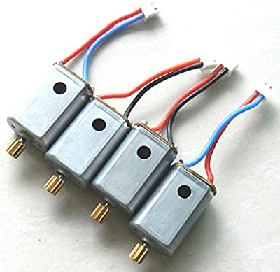 Night Lions Tech(tm) Upgraded 4pcs Motor with Brass Gear Rc Quadcopter Spare Parts for Syma X8c X8w X8g