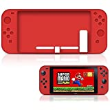 Paddsun Nintendo Switch Case, Soft Anti-slip Silicone Cover Skins Protective Case For Nintendo Switch Console (Red)