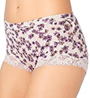 Cotton Rich High Rise Comfort Floral Lace Shorts