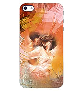 PrintDhaba LOVE ART D-6556 Back Case Cover for APPLE IPHONE 4 (Multi-Coloured)