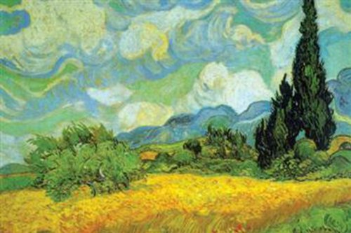 Walls 360 Peel & Stick Wall Decals: Cypresses by Vincent Van Gogh (24 in x 16 in)