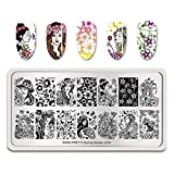 Summer Fruit Nail Art Stamping Template Tropical Punch Pattern Rectangle Image Plate Stamping Polish Needed BP-S-L010 (Color: BP-S-L010)
