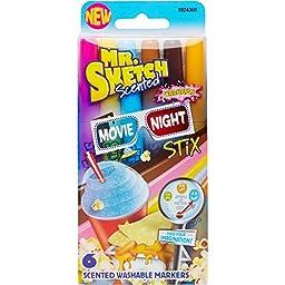 Mr.Sketch Scented Washable Marker Set 6/Pkg-Stix Movie Night