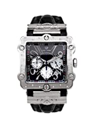 NEW! Aqua Master Men's Two-Tone Square 20-Diamond Watch