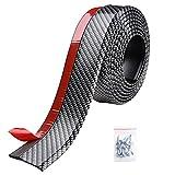 Yescom 8.2ft/250cm Universal Carbon Fiber Front Bumper Lip Strip Splitter Spoiler Side Skirt for Car Truck