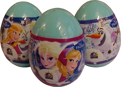 Disney's Frozen PLASTIC Surprise Egg With Cookie (Pack of 3)