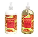Pomegranate Shea Butter Hand & Body Lotion And Pomegranate Shea Butter Hand Soap Duo Set 16 Oz Each By Greenwich Bay Trading Co.
