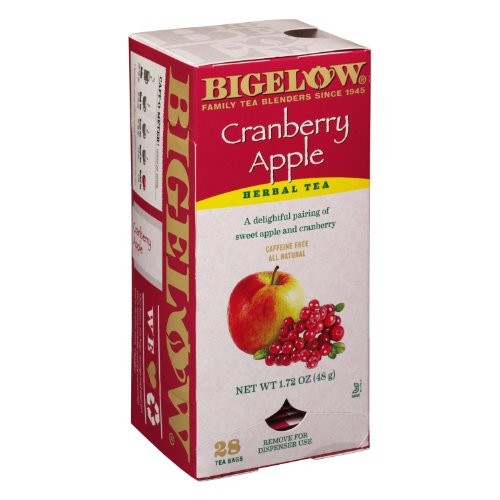 Bigelow Tea Bags, Cranberry Apple Herbal, 28-Count Boxes (Pack Of 6) front-474272