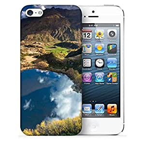 Snoogg Heart Lake Printed Protective Phone Back Case Cover For Apple Iphone 5 / 5S