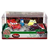 Disney Pixar Cars 2 Exclusive That's Amore 4 pc Die Cast Car Set with Talking Lightning McQueen , Talking Uncle Topolino , Luigi & Guido