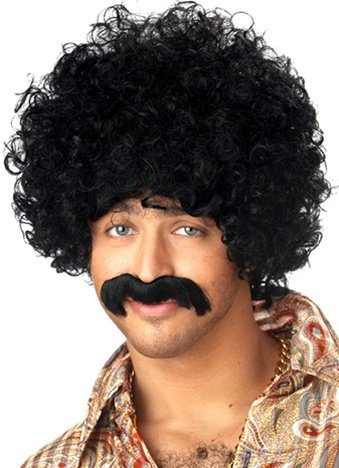 How You Doin? Afro Wig & Mustache